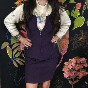 VINTAGE / 100% Cotton Talbots Corduroy Zip Dress